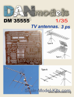Civil TV Antennas, 3 pcs
