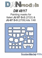 DAN48117 Painting masks for model Ju-87 G-2 & Ju-87 D-5, Italeri kit