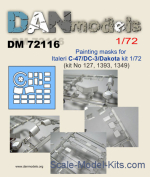 DAN72116 Mask for C-47/DC-3/Dakota Italeri kit
