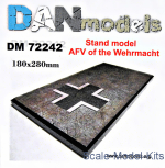 Display stand. AFV of the Wehrmacht theme, 180x280mm