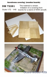 Display stand. Aerodrome covering (wooden boards), scale 1/72; 1/48