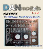 DAN72533 Photo-etching: Stencil for marking Japanese aircraft (World War II)