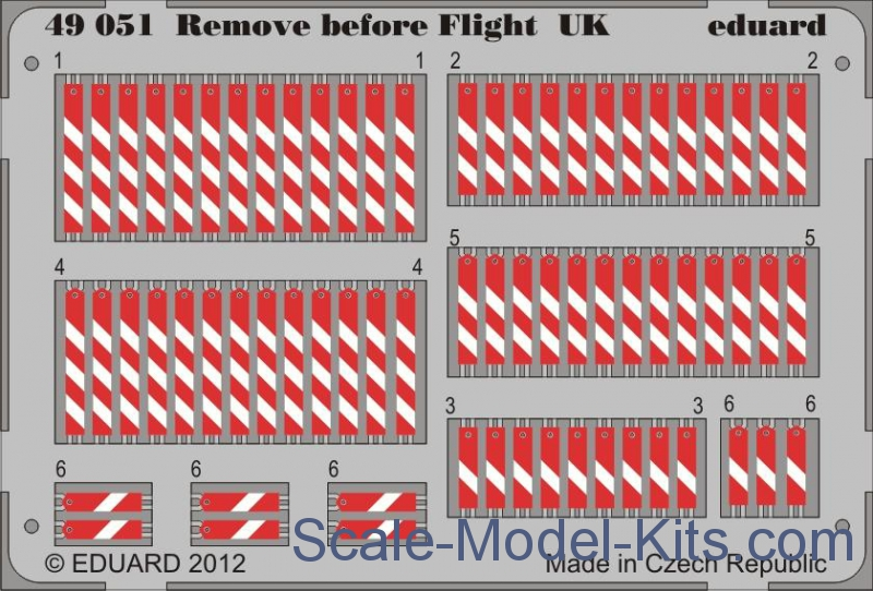 Photoetched set 1/48 Remove before flight UK