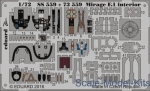 EDU-73559 Photoetched set 1/72 Mirage F.1 for Special Hobby kit