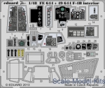 Photo-etched parts: Photoetched set 1/48 F-4B Phantom interior (self adhesive), for Academy kit, Eduard, Scale 1:48