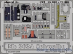 Photo-etched parts: Photoetched set 1/72 Me 262A Schwalbe Color, for Academy kit, Eduard, Scale 1:72