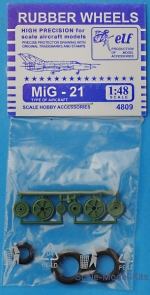 ELF4809 Rubber wheels for MiG-21