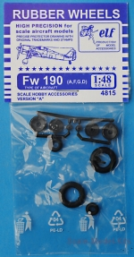 ELF4815 Rubber wheels for Fw 190 A,F,G,D, version A