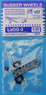 ELF4817 Rubber wheels for LaGG-3
