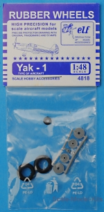 ELF4818 Rubber wheels for Yak-1