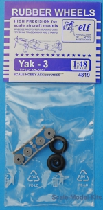 ELF4819 Rubber wheels for Yak-3
