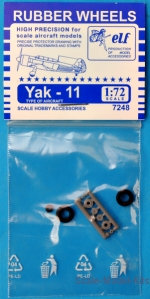 Detailing set: Rubber wheels for Yak-11, ELF, Scale 1:72