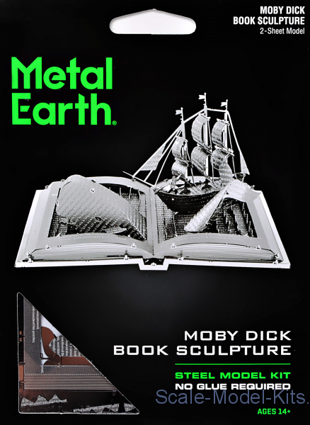 3D pazle: Moby Dick Book Sculpture