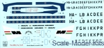 HAD144035 Decal 1/144 for Tu-134/134A/134A-3 Malev Airlines