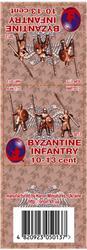Byzantine Infantry 10-13 cent set 2, resin