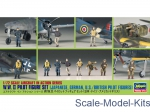 HA35008 WWII Pilot Figure Set (JAP, GER, US, RAF)