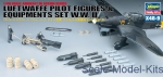 HA36009 Pilot figures and equipment - WWII Luftwaffe set