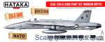 HTK-AS44 USAF, USN & USMC paint set (modern greys), 8 pcs