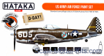 HTK-CS04-02 US Army Air Force paint set, 6 pcs