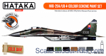 HTK-CS105 MiG-29A/UB 4-colour scheme paint set, 6 pcs