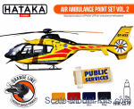 HTK-CS79 Air Ambulance (HEMS) paint set vol.2, 4 pcs