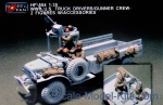 HF554 WWII US Truck driver/Gunner crew with accessories (resin)