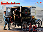 Gasoline delivery, Model T 1912 Delivery Car with American Gasoline Loaders