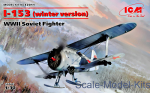 ICM32011 I-153, WWII Soviet Fighter (winter version)