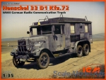 Henschel 33 D1 Kfz.72 WWII German radio communication truck