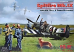 ICM48801 Spitfire Mk.IX with RAF pilots & ground personnel