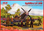 ICM48802 Spitfire LF.IXE with Soviet pilots & ground personnel