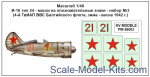 Decal 1/48 for I-16 type 24 - set №3 (4th Guard Fighter Regiment of the Baltic Fleet Aviation, Win