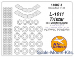 KVM14607-01 Mask for L-1011 Tristar (with side windows on fuselage) and wheels masks (Eastern Express)