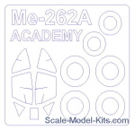 KVM72532 Mask for Me-262A-1a + wheels (Academy)
