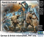 MB35116 Hand-to-hand fight, German & British infantrymen, WW I era