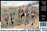 MB35158 British and German soldiers, Somme Battle, 1916