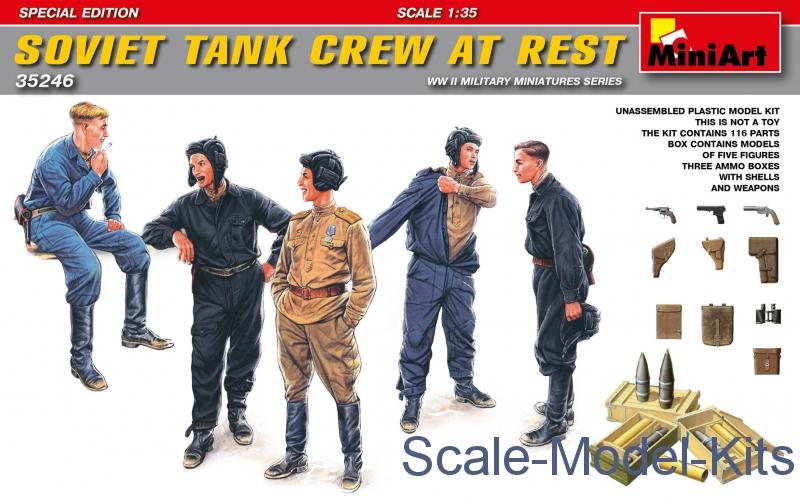 Soviet tank crew at rest. Special edition