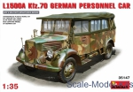 Army Car / Truck: L1500A (Kfz.70) German personnel car, MiniArt, Scale 1:35