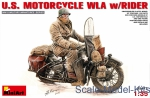 Motorcycles: U.S.Motorcycle WLA with rider, MiniArt, Scale 1:35