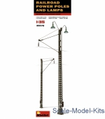 MA35570 Railroad power poles and lamps