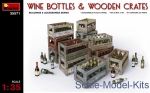 MA35571 Wine bottles and wooden crates