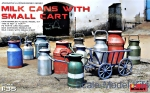 MA35580 Milk cans with small cart