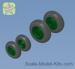 NS144013 Wheels set for Mi-8, Mi-17 Helicopters - No mask series