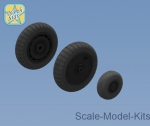 NS32032-a Whels set for Focke-Wulf 190 A/F/G late disk with Dunlop early main tire (tread)
