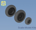 NS32033-a Whels set for Focke-Wulf 190 A/F/G late disk with Continental late (smooth) main tire