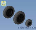 NS48102-a Whels set for Focke-Wulf 190 A/F/G late disk with Dunlop early main tire (tread)