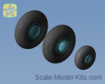 NS48109-a Wheels set for An-2 soviet plane - No Mask series