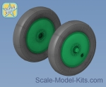NS48117-a Wheels set for Soviet WWII plane U-2 / Po-2 - No Mask series