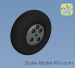 Detailing set: Spitfire wheels set 3 spoke, Rib tire. No Mask series, Northstar Models, Scale 1:72