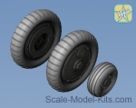 NS72165-a Wheels set for Bf-109 G6 (Main disk Type 2 - without Ribs)